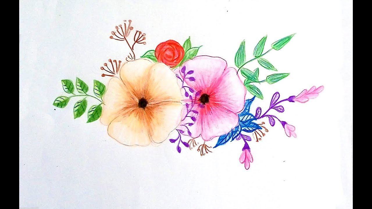 How To Draw Cute Flowers For Kids Easy Drawing Tutorial Youtube