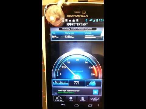 AT&T HSPA+ speed test