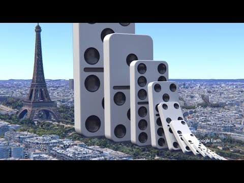Domino Effect V10 The Largest Domino Simulation On Real Footage