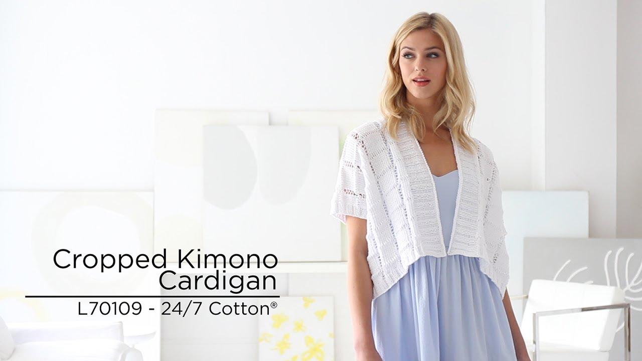 Cropped Kimono Cardigan knit with 24/7 Cotton® - YouTube