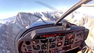 Vol autour du Mont Blanc, en DR400.  Atterrissage à Annecy.