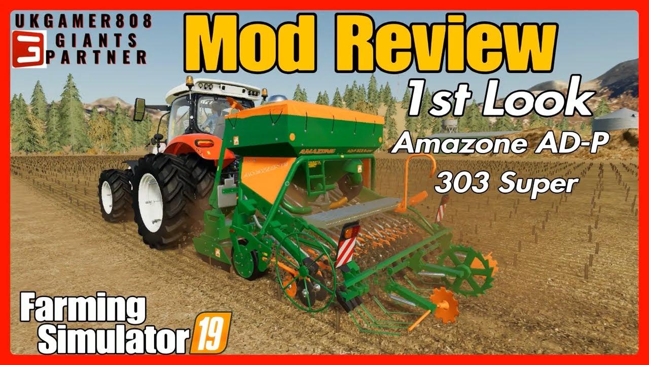 Amazone AD-P 303 Super fs19 mod review #farmingsimulator ls19 mods