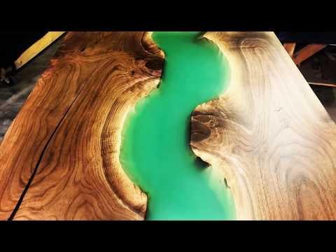 MEMBUAT MEJA dengan Epoxy Resin meja - Original