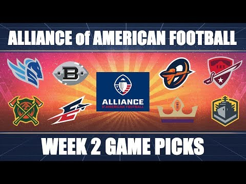 Alliance of American Football: Week 2 Predictions