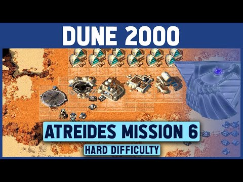 Dune 2000 - Atreides Mission 6 (Right Map) - Hard Difficulty - 1920x1080