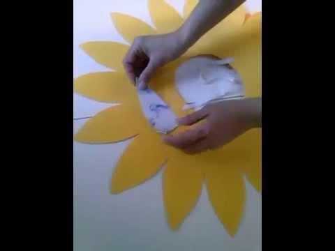 video tutorial girasol plantilla YouTube