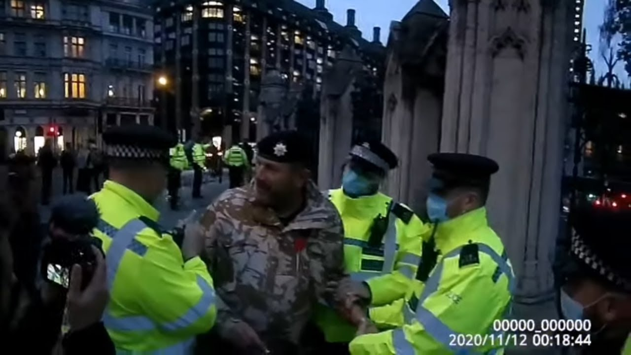 2 Veterans arrested at Parliament Square on Armistice Day