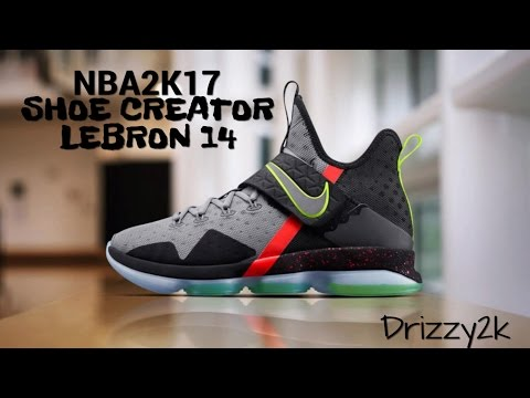 095b4c44d7881 NBA2K17 HOW TO CREATE THE NIKE LEBRON 14 FROM SCRATCH | LEBRON JAMES  SIGNATURE SHOE