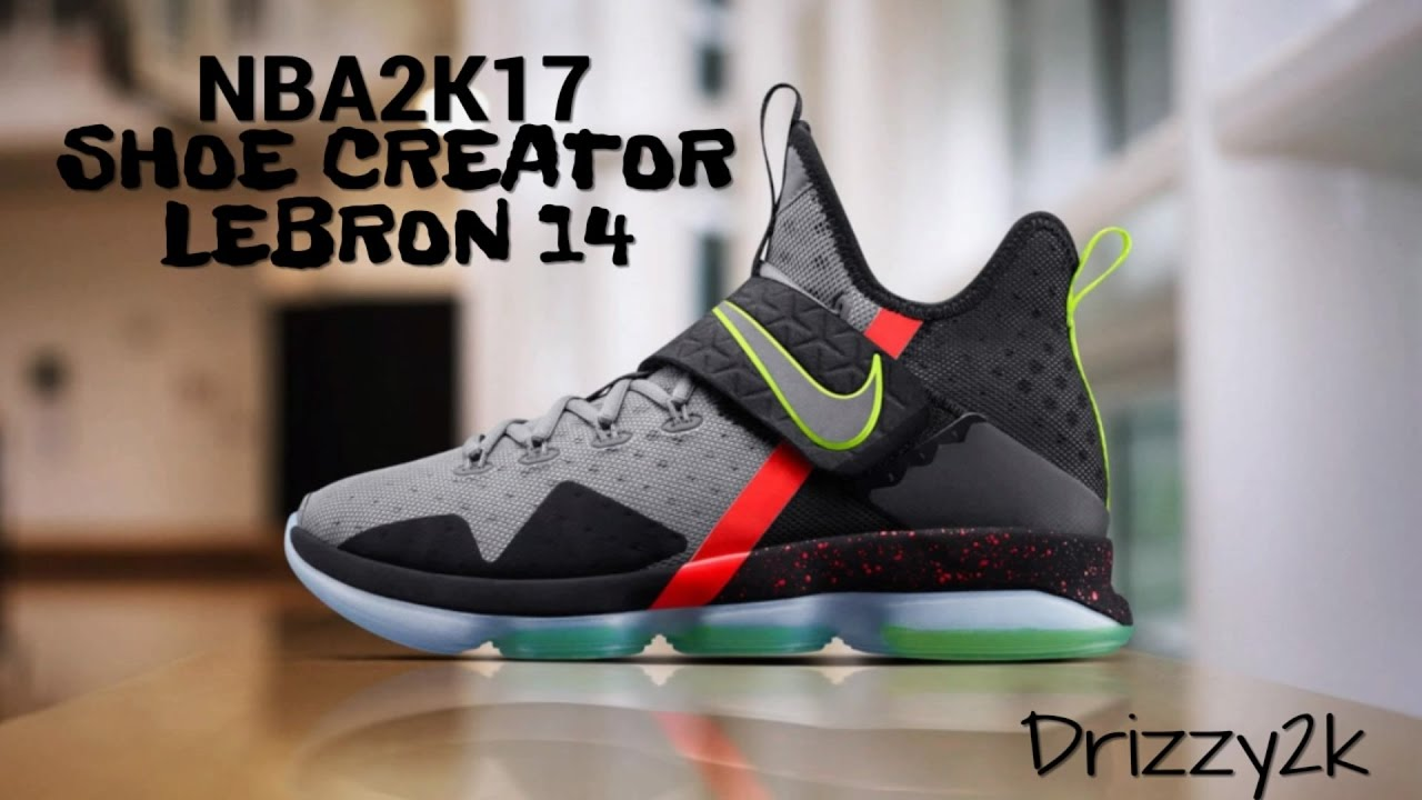 NBA2K17 HOW TO CREATE THE NIKE LEBRON 14 FROM SCRATCH | LEBRON JAMES  SIGNATURE SHOE - YouTube