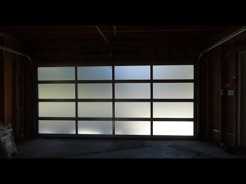 All Glass Garage Door/Full View - Modern & Elegant