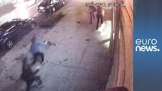 CCTV captures moment of NYC bomb explosion