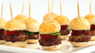 How To Make Mini Hamburgers - Finger Food Video Recipe