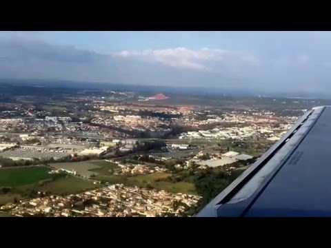 Landing in Marseille, France. (MRS) Vueling flight from Rome Fiumicino (FCO) 03/18/16