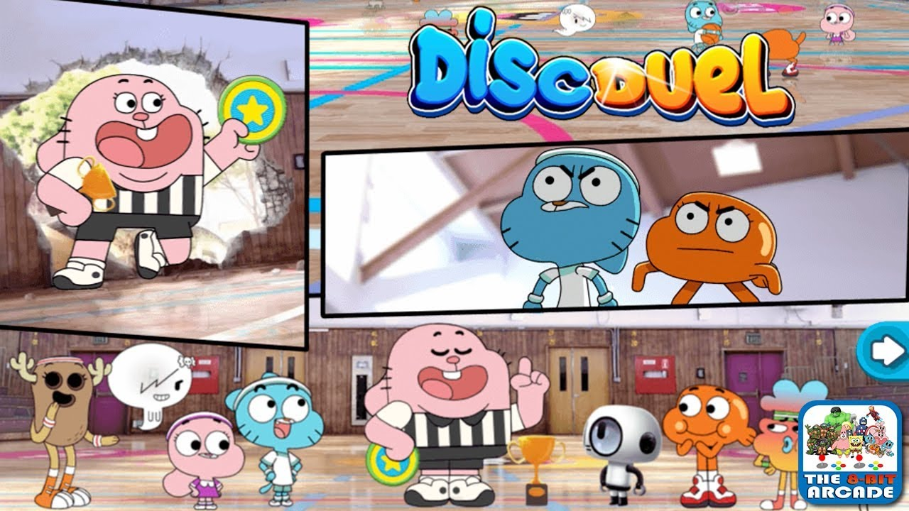the amazing world of gumball disc duel bobert initiates the win