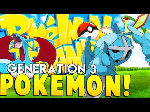 GENERATION 3 POKEMON - Minecraft Pixelmon Island - Pokemon Mod