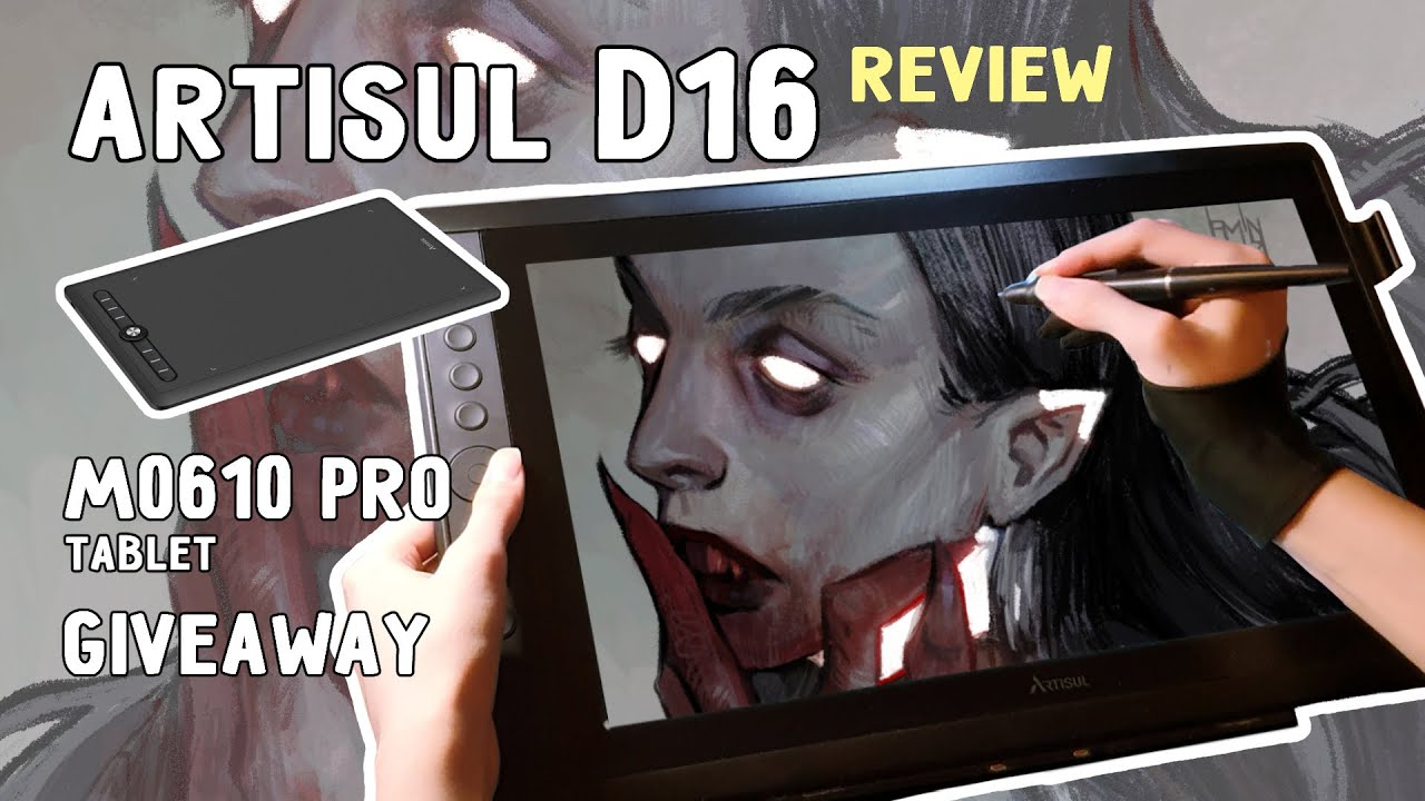 ARTISUL D16 review | Speedpaint (CLIPSTUDIO)