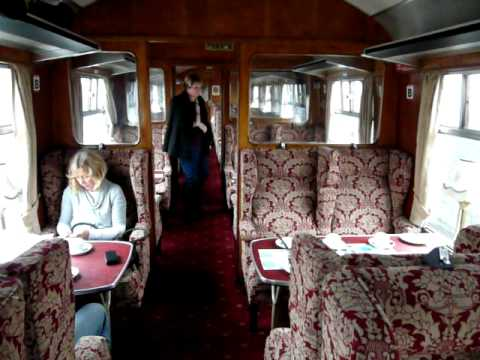 Inside The First Class Carriage Of The Jacobite Steam