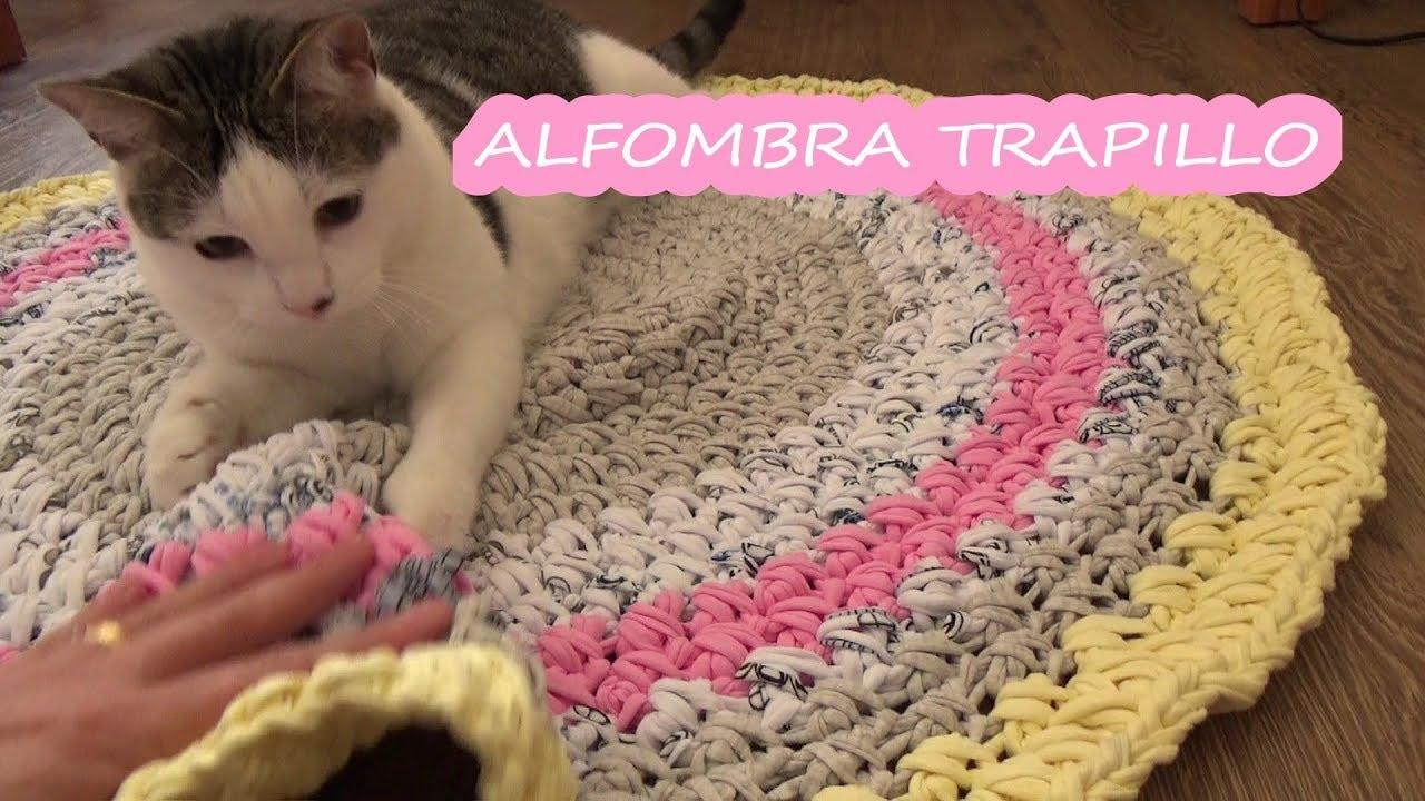 Como hacer alfombra de trapillo facil a crochet tecnica de trapillo youtube - Alfombra trapillo facil ...