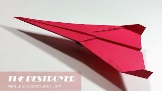 Papierflieger selbst basteln. Papierflugzeug falten - Beste Origami Flugzeug | Destroyer