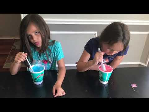 Maddy and Bryce Brain Freeze Challenge