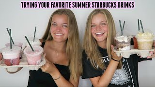 Trying Your Favorite Summer Starbucks Drinks ~ Jacy and Kacy