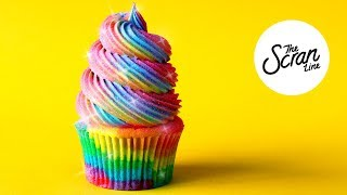 DANCING QUEEN  **RAINBOW**  CUPCAKES - The Scran Line