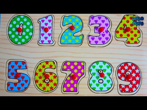 Learn Numbers for Children Wood Toy 123| Learn To Count 0-9| Learn Numbers 0-9|Learning Video