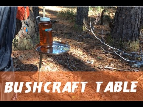 Quick And Easy Bushcraft Table