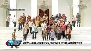 Perpisahan Kabinet Kerja, Jokowi-JK Foto Bareng Menteri