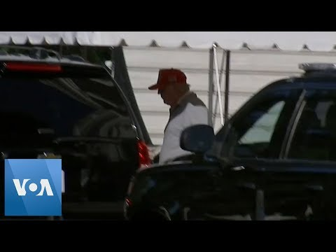 Donald Trump Leaves White House En Route to Trump National Golf Club