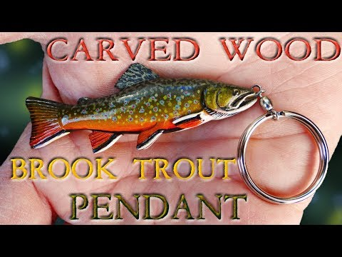 Carving A Brook Trout Pendant