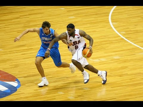 USA vs Italy 2006 FIBA World Basketball Championship Group Game FULL GAME English