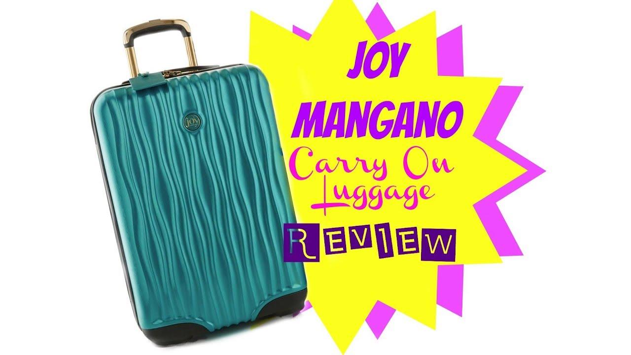 ecc831650c84 Joy Mangano Carry On Luggage Review