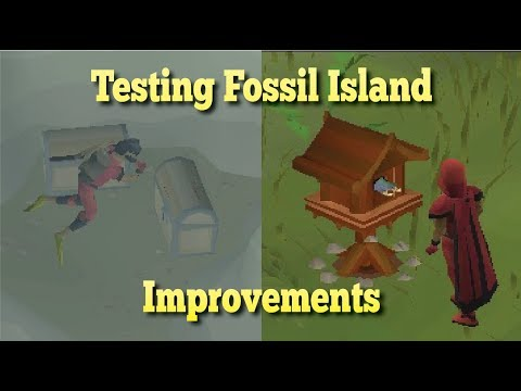 Testing Fossil Island Improvements