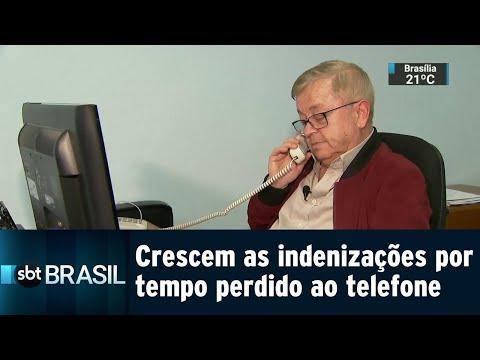 Em SP, cresce o número de indenizações por tempo perdido ao telefone | SBT Brasil (18/08/18)