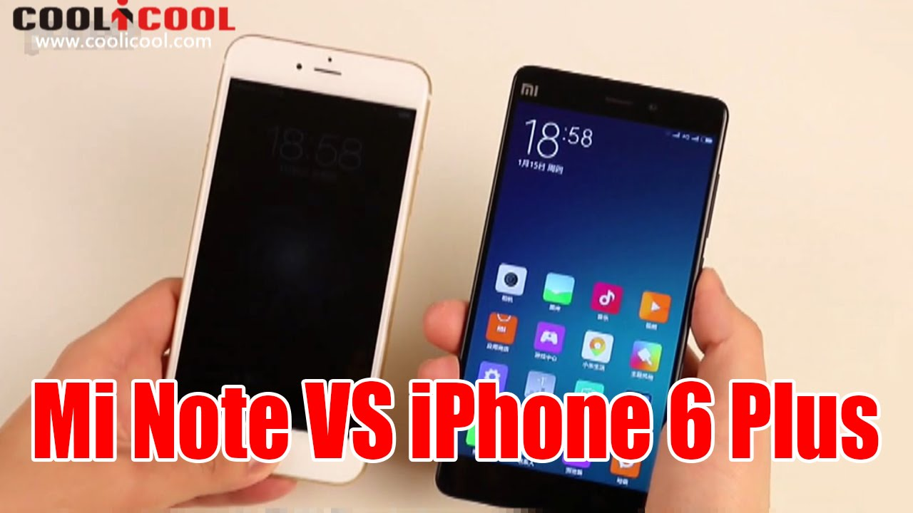 xiaomi note vs iphone 6 plus device features
