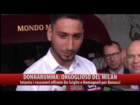 Donnarumma orgoglioso del Milan