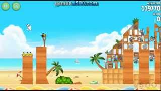 Angry Birds Rio Golden Beach Ball 1 All Stars Walkthrough