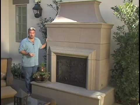 precast outdoor fireplaces youtube
