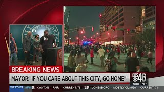 Rapper Killer Mike gives impassioned speech during Atlanta protests