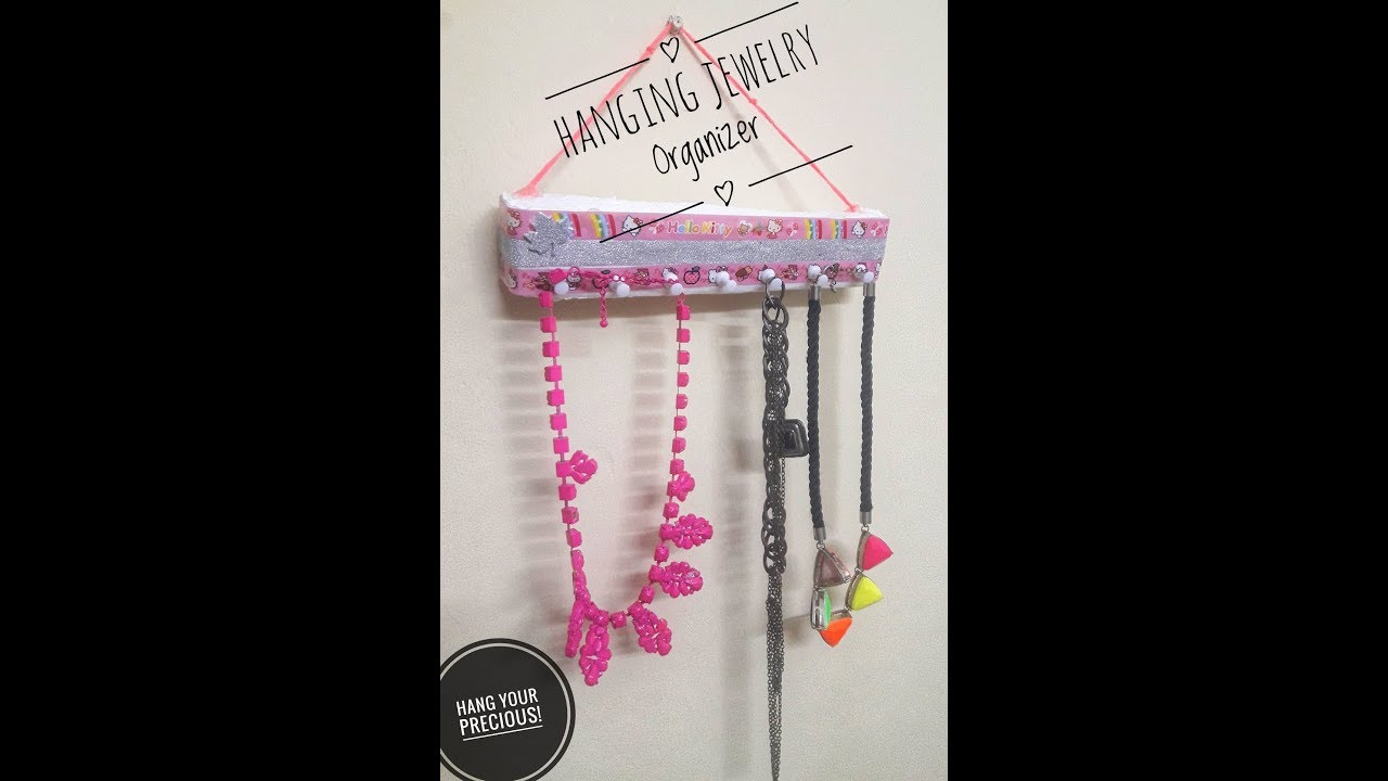 DIY Jewelry Organizer Best out of Waste Neckpiece Holder Jewelry