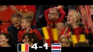 world cup 2018 Belgium vs Costa Rica 4-1 Friendly HIGHLIGHTS   11/6/2018