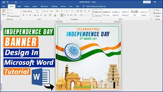 Independence Day Banner Design Tutorial in Ms Word || Social Media Independence Day Banner Design