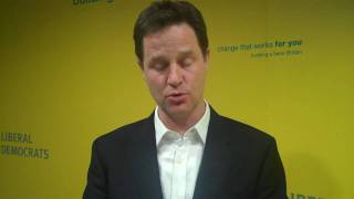 Nick Clegg discussed drugs policy