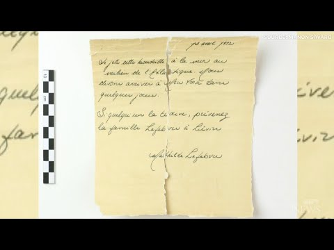 Message in a bottle dates from the Titanic era