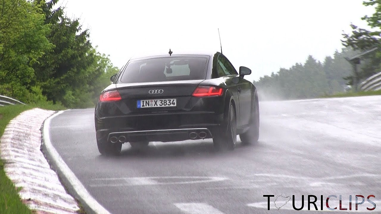 2015 audi tts coup testing on a very wet n rburgring. Black Bedroom Furniture Sets. Home Design Ideas