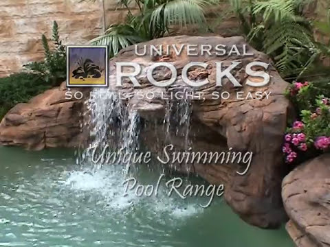 Installing A Swimming Pool Waterfall From Universal Rocks