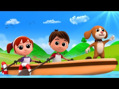 Row Row Row Your Boat | Nursery Rhymes For Kids | Children Rhyme | Baby Song By Luke & Lilly
