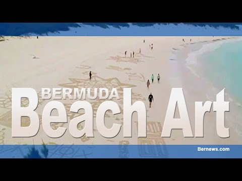 Bermuda Beach Art Time Lapse, March 25 2015