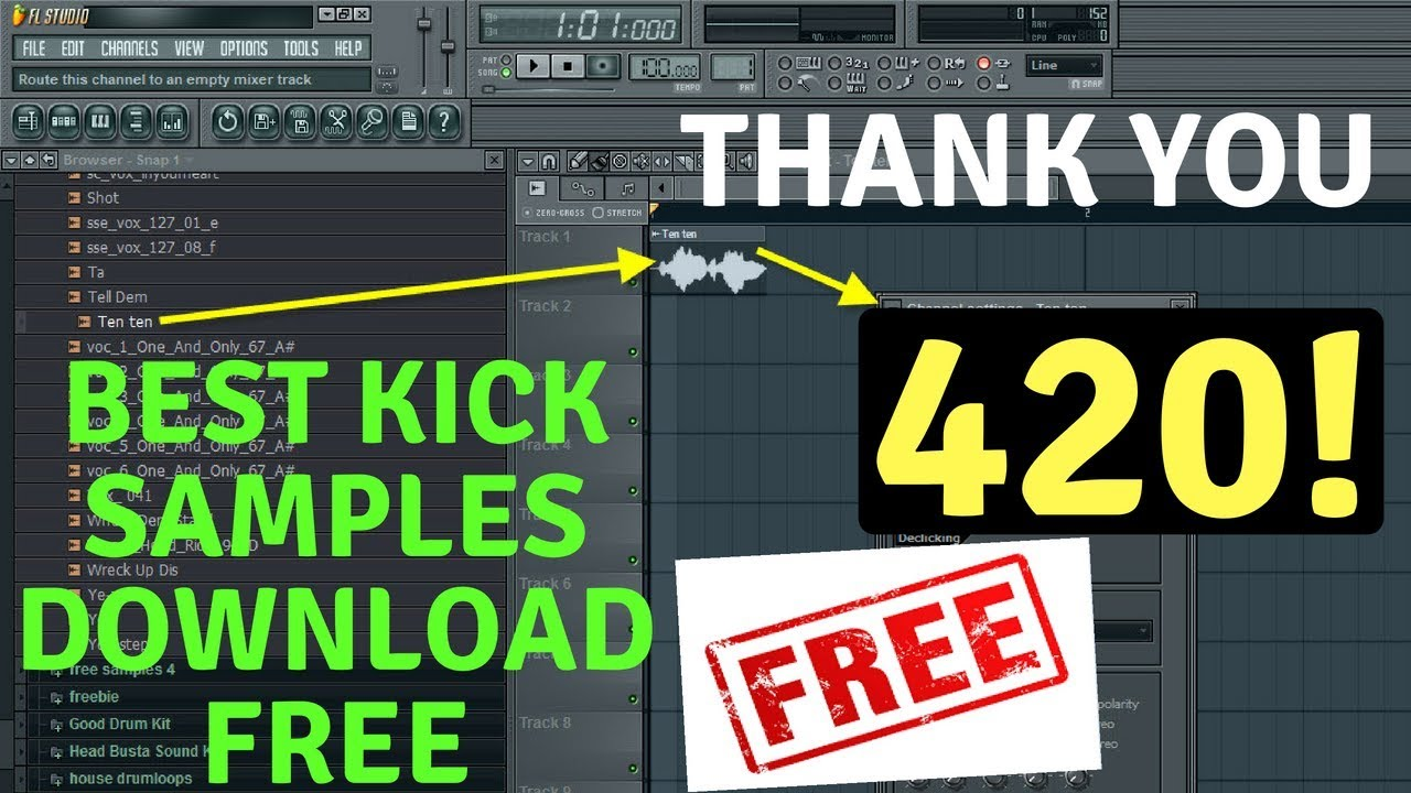 Awesome free drum loops for electronic music